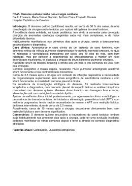 PD45- Derrame quiloso tardio pós-cirurgia cardíaca Paulo Fonseca