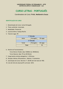 Letras Português - Universidade Federal de Pernambuco