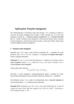 Aplicações: Funções marginais