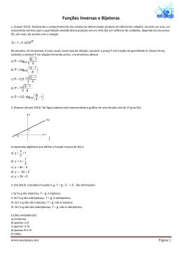 Funções Inversas e Bijetoras1