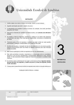 MATEMÁTICA SOCIOLOGIA