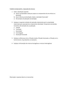 Trabalho Compensatório- Separação de misturas 1