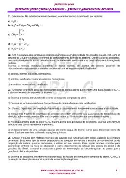 Radicais e Nomenclatura - Química para o Vestibular