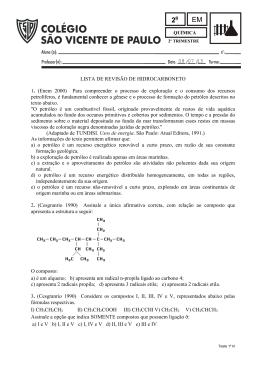 08 07 15 LISTA DE REVISÃO DE HIDROCARBONETO 1. (Enem