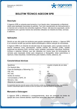 Agecom Solvente para Borracha – SPB