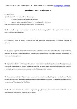MATÉRIA E SEUS FENÔMENOS - Portal de Estudos em Química