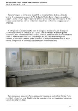 2/3 - Aeroporto Santos Dumont conta com novos banheiros