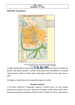 Prova de Geografia UFU