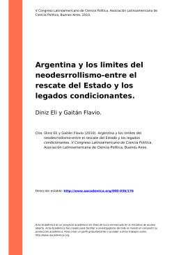 Argentina y los limites del neodesrrollismo