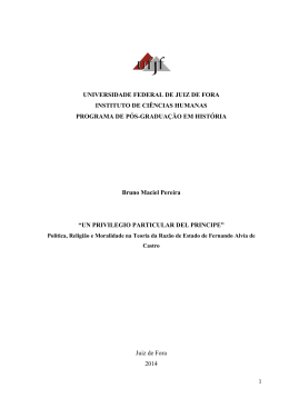 UN PRIVILEGIO DEL PRINCIPE - Universidade Federal de Juiz de