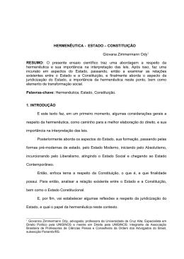 HERMENÊUTICA - ESTADO – CONSTITUIÇÃO Giovana