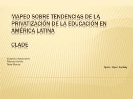 Mapeo sobre Tendencias de la Privatización de la Educación en