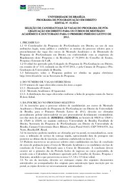 universidade de brasília programa de pós