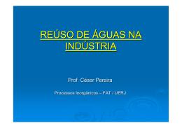 REÚSO DE ÁGUAS \(EA\)