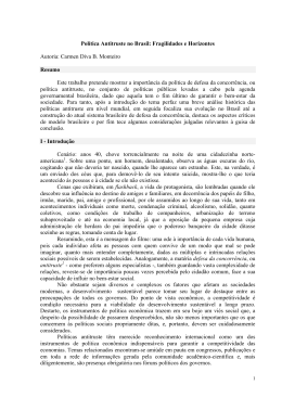 Política Antitruste no Brasil: Fragilidades e Horizontes