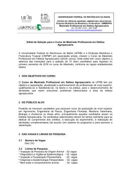 Programa de Pós-Graduação em Defesa Agropecuária
