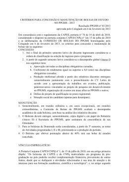 critérios para concessão de bolsas 2013