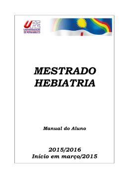 Mestrado em Hebiatria