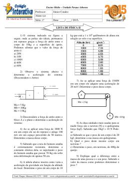 1) O sistema indicado na figura a seguir, onde as polias são ideais