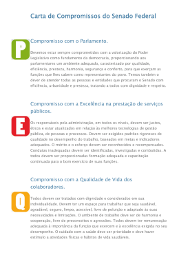 Carta de Compromissos do Senado Federal