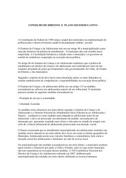 Conselho de Direitos e Plano Socioeducativo