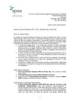 Ex.mo Sr. Director-Geral da Agência Portuguesa do