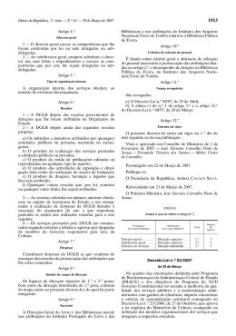 Decreto-Lei n.° 93/2007, de 29 de Março