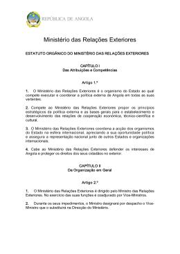 Estatuto Orgânico do Ministério das Relações Exteriores