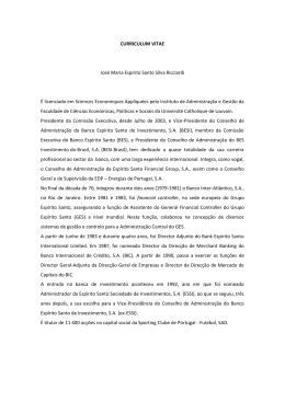 CURRICULUM VITAE José Maria Espírito Santo Silva Ricciardi É