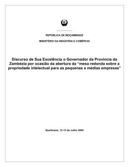 SENHOR DIRECTOR GERAL DA ORGANIZAO REGIONAL