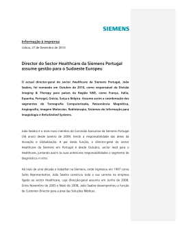Director do Sector Healthcare da Siemens Portugal assume gestão