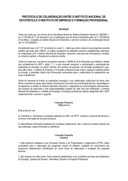 Protocolo INE IEFP