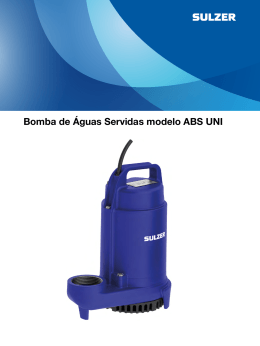 Bomba de Águas Servidas modelo ABS UNI