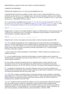 Instrução Normativa nº 36/2012