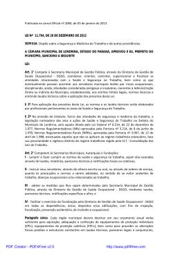 Lei nº 11.794, de 26 de dezembro de 2012