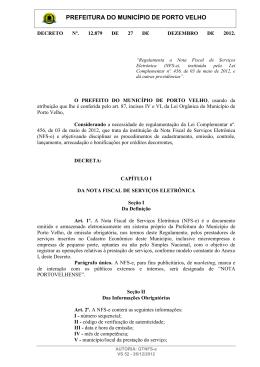decreto nº. 12.879 de 27 de dezembro de 2012.