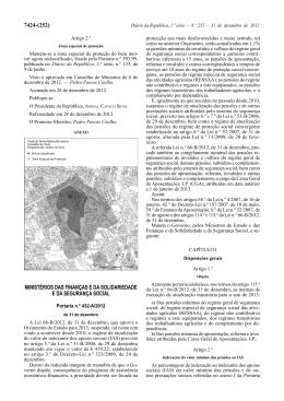 Portaria n.º 432-A/2012