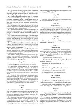 Lei n.º 63/2012 - Bolsa Nacional de Terras