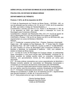 Portaria DETRAN-MG 2212-2012 - e