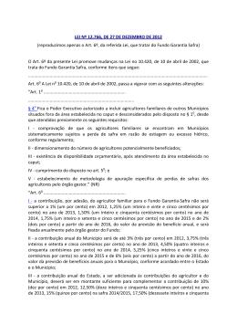 LEI Nº 12.766, DE 27 DE DEZEMBRO DE 2012