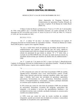 RESOLUÇÃO Nº 4.164, DE 20 DE DEZEMBRO DE 2012 Altera