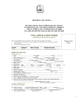 Angola Visa Application Form