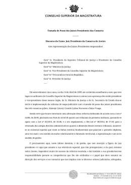Discurso do Exmo. Juiz Presidente Comarca Aveiro