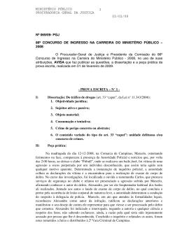 ministério público procuradoria geral da justiça 03/02/09