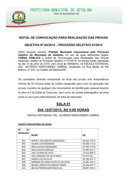 PREFEITURA MUNICIPAL DE GETULINA