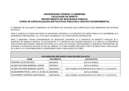 Resultado dos Recursos - cead - Universidade Federal Fluminense