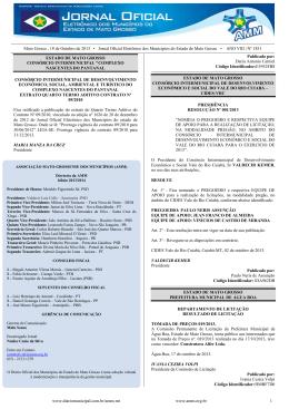 Mato Grosso , 18 de Outubro de 2013 • Jornal Oficial Eletrônico dos