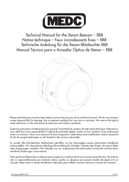 Technical Manual for the Xenon Beacon – XB8 Notice technique