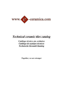 Technical ceramic tiles catalog - e