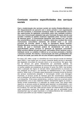 Comissão examina especificidades dos serviços sociais